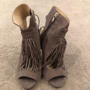 Vince Camuto suede fringe shoes